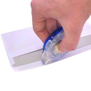 Glue Tape - Kleberoller permanent 8,4 mm breit 16 m lang blau Kuvert kleben