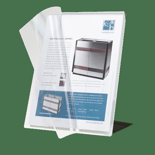 LC-01A4 Self-Laminating Card Kaltlaminierfolie Selbstlaminierfolie transparent A3 A4 Beispiel Anwendung