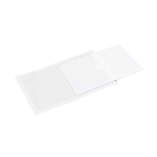 QL-03KS QL-03KS Business Card Selbstklebende Visitenkartentaschen 90 x 60 kurze Seite offen Beispiel leer transparent